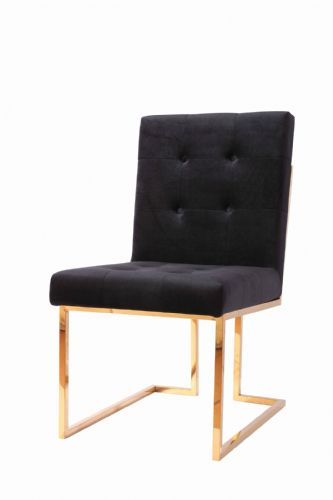 Italian Liang & Esta Gold / Black Dining Chair